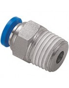 Compressed air push fittings